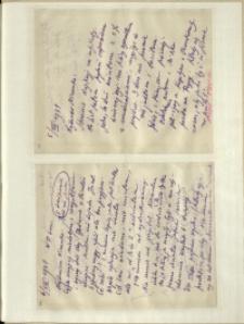 Listy Stanisława Ignacego Witkiewicza do żony Jadwigi z Unrugów Witkiewiczowej. List z 05.08.1931. List z 06.08.1931.