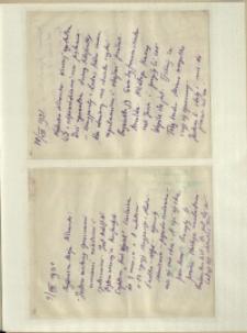 Listy Stanisława Ignacego Witkiewicza do żony Jadwigi z Unrugów Witkiewiczowej. List z 07-08.08.1931. List z 09.08.1931.