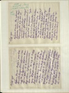 Listy Stanisława Ignacego Witkiewicza do żony Jadwigi z Unrugów Witkiewiczowej. List z 11.08.1931. List z 14.08.1931.