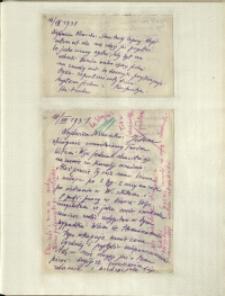 Listy Stanisława Ignacego Witkiewicza do żony Jadwigi z Unrugów Witkiewiczowej. List z 16.08.1931. List z 18.08.1931.