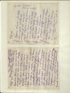 Listy Stanisława Ignacego Witkiewicza do żony Jadwigi z Unrugów Witkiewiczowej. List z 26.08.1931. List z 28.08.1931.