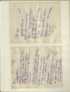 Listy Stanisława Ignacego Witkiewicza do żony Jadwigi z Unrugów Witkiewiczowej. List z 05.09.1931. List z 06.09.1931.