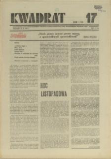 """Kwadrat : dwutygodnik społeczno-zawodowy Krajowej Komisji Koordynacyjnej Pracowników Poligrafii NSZZ """"Solidarność"""". 1981 nr 17"""