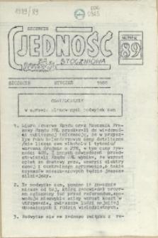"""Jedność Stoczniowa : tygodnik NSZZ """"Solidarność"""" Stoczni im. Warskiego. 1989 nr 89"""
