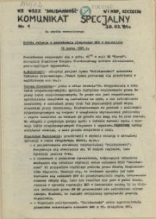 Komunikat Specjalny. 1981 nr 1