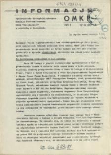 Informacje OMKP. 1981 nr 1