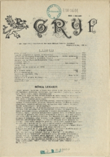 """Gryf : pismo organizacji """"Solidarność Walcząca"""" Oddział Pomorze Zachodnie. 1986 nr 5 maj"""