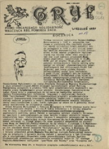 """Gryf : pismo organizacji """"Solidarność Walcząca"""" Oddział Pomorze Zachodnie. 1987 nr 9 wrzesień"""