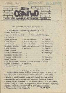 """Ogniwo : pismo NSZZ """"Solidarność"""" Budowlanych Region Pomorza Zachodniego. 1988 nr 11"""
