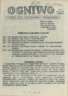 """Ogniwo : pismo NSZZ """"Solidarność"""" Budowlanych Region Pomorza Zachodniego. 1989 nr 26"""