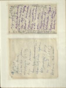 Listy Stanisława Ignacego Witkiewicza do żony Jadwigi z Unrugów Witkiewiczowej. List z 15.09.1931. List z 18.09.1931.