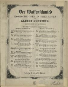 Der Waffenschmied : komische Oper in drei Acten No 13, Lied