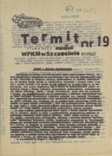 """Termit : pismo NSZZ """"Solidarność"""" WPKM w Szczecinie. 1987 nr 19"""
