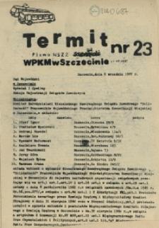 """Termit : pismo NSZZ """"Solidarność"""" WPKM w Szczecinie. 1987 nr 23"""