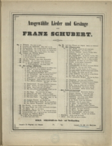 Die schöne Müllerin Op. 25. No 18, Trockne Blumen