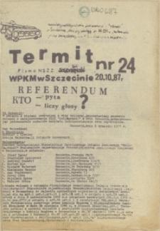 """Termit : pismo NSZZ """"Solidarność"""" WPKM w Szczecinie. 1987 nr 24"""