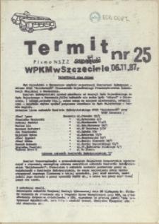 """Termit : pismo NSZZ """"Solidarność"""" WPKM w Szczecinie. 1987 nr 25"""