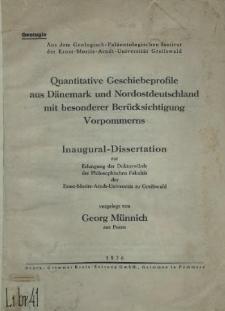 Quantitative Geschiebeprofile aus Dänemark und Nordostdeutschland mit besonderer Berücksichtigung Vorpommerns