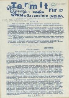 """Termit : pismo NSZZ """"Solidarność"""" WPKM w Szczecinie. 1989 nr 37"""
