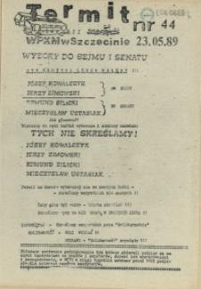 """Termit : pismo NSZZ """"Solidarność"""" WPKM w Szczecinie. 1989 nr 44"""