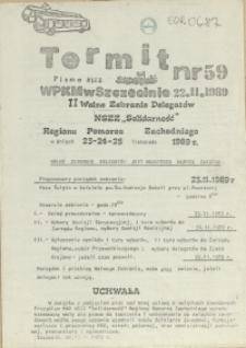 """Termit : pismo NSZZ """"Solidarność"""" WPKM w Szczecinie. 1989 nr 59"""