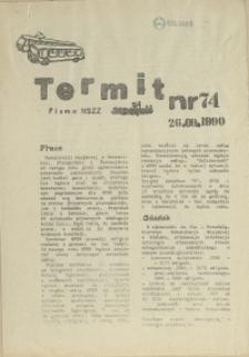"""Termit : pismo NSZZ """"Solidarność"""" WPKM w Szczecinie. 1990 nr 74"""