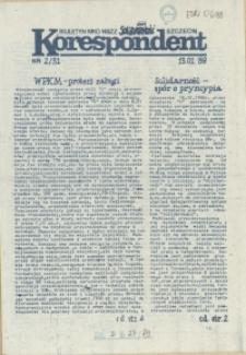 """Korespondent : biuletyn MKO NSZZ """"Solidarność"""" Szczecin. 1989 nr 2"""