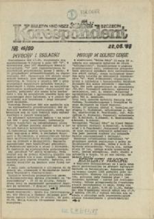 """Korespondent : biuletyn MKO NSZZ """"Solidarność"""" Szczecin. 1989 nr 16"""