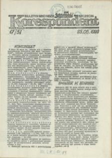 """Korespondent : biuletyn MKO NSZZ """"Solidarność"""" Szczecin. 1989"""