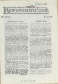 """Korespondent : biuletyn MKO NSZZ """"Solidarność"""" Szczecin. 1989 nr 20"""