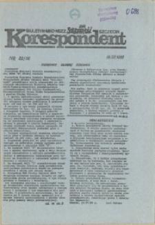 """Korespondent : biuletyn MKO NSZZ """"Solidarność"""" Szczecin. 1989 nr 22"""