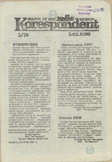 """Korespondent : biuletyn MKO NSZZ """"Solidarność"""" Szczecin. 1990 nr 5"""