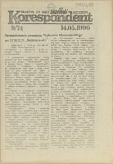 """Korespondent : biuletyn MKO NSZZ """"Solidarność"""" Szczecin. 1990 nr 9"""