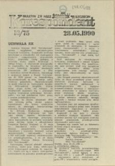 """Korespondent : biuletyn MKO NSZZ """"Solidarność"""" Szczecin. 1990 nr 10"""