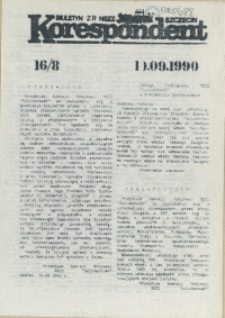 """Korespondent : biuletyn MKO NSZZ """"Solidarność"""" Szczecin. 1990 nr 16"""