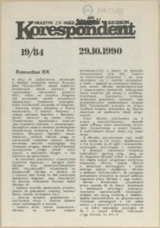 """Korespondent : biuletyn MKO NSZZ """"Solidarność"""" Szczecin. 1990 nr 19"""