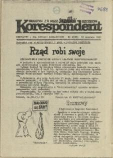 """Korespondent : biuletyn MKO NSZZ """"Solidarność"""" Szczecin. 1991 nr 4"""