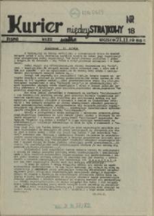 """Kurier Międzystrajkowy : pismo NSZZ """"Solidarność"""". 1988 nr 18"""