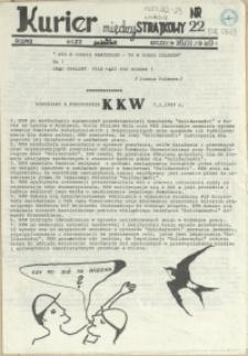 """Kurier Międzystrajkowy : pismo NSZZ """"Solidarność"""". 1989 nr 22"""