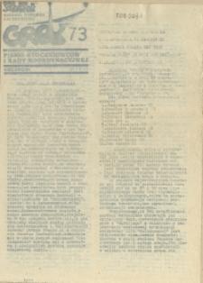 """Grot : pismo NSZZ """"Solidarność"""" Stoczniowców. 1987 nr 73"""