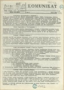 """Komunikat : """"Solidarność"""". 1981 nr 11"""