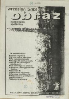 Obraz : miesięcznik społeczny. 1983 nr 5