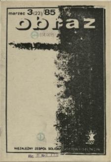 Obraz : miesięcznik społeczny. 1985 nr 3