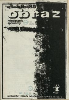 Obraz : miesięcznik społeczny. 1985 nr 9