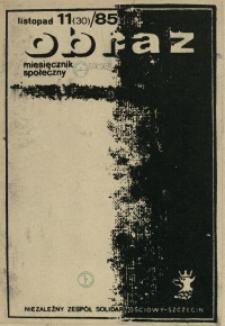 Obraz : miesięcznik społeczny. 1985 nr 11