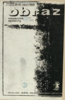 Obraz : miesięcznik społeczny. 1986 nr 8-9
