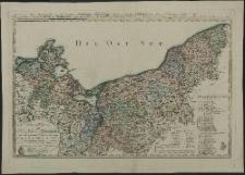 Special Charte vom Herzogthum Pommern nebst den angränzenden Ländern von Mecklenburg, der Ucker-und Neumark, Westpreussen und Netzdistrct