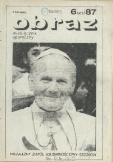 Obraz : miesięcznik społeczny. 1987 nr 6