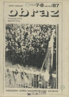 Obraz : miesięcznik społeczny. 1987 nr 7-8