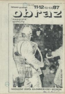 Obraz : miesięcznik społeczny. 1987 nr 11-12